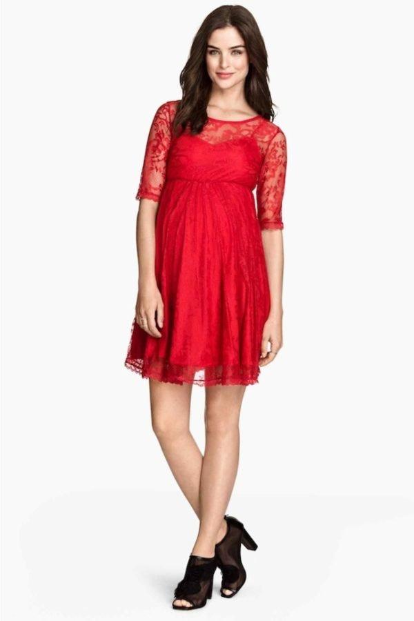 vestidos-de-fiesta-premama-rojo-pasion