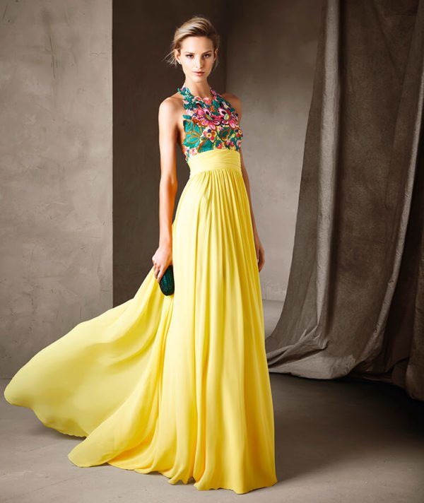 vestidos-de-fiesta-pronovias-amarillo
