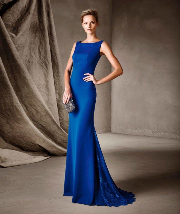 vestidos-de-fiesta-pronovias-azul-liso