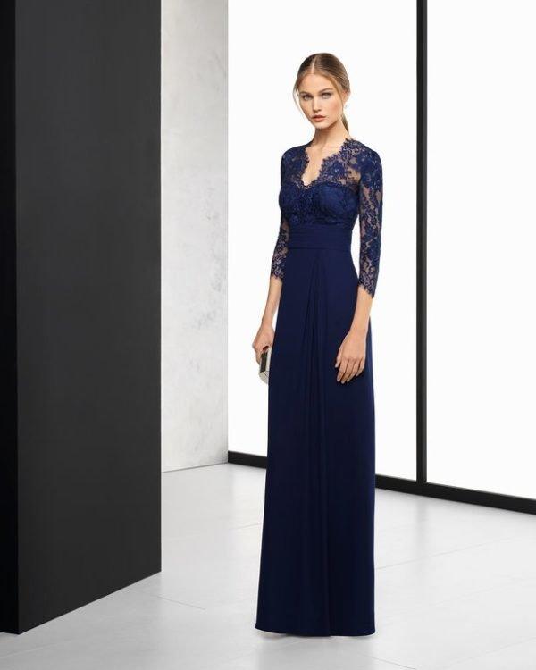 Vestidos fiesta 2019 azul