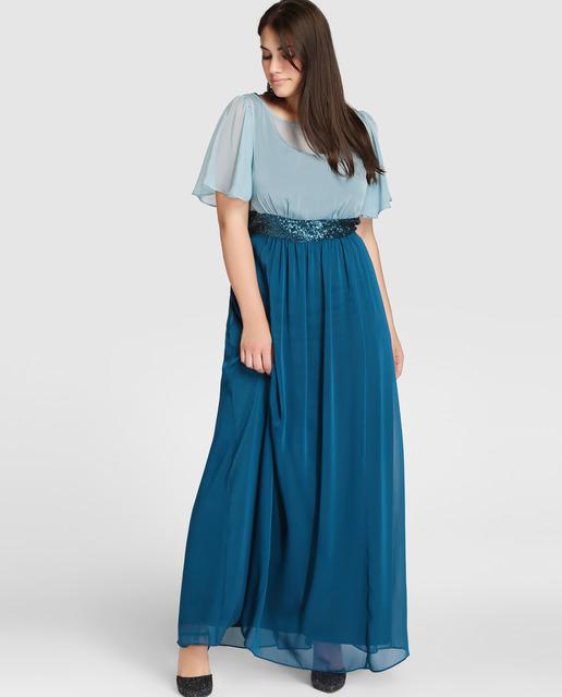 vestidos-de-fiesta-tallas-grandes-otoño-invierno-2017-falda-azul