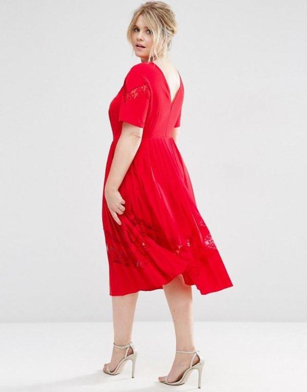 vestidos-de-fiesta-tallas-grandes-otoño-invierno-2017-rojo