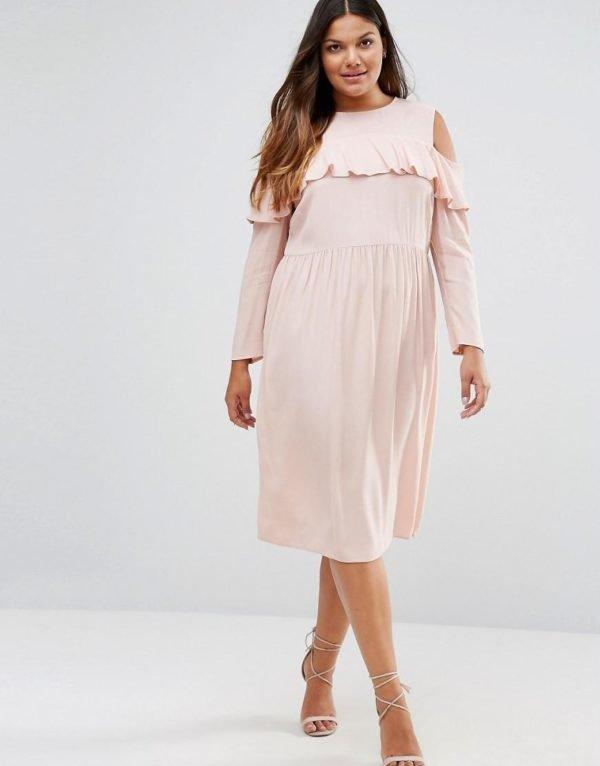 vestidos-de-fiesta-tallas-grandes-otoño-invierno-2017-rosa-suave