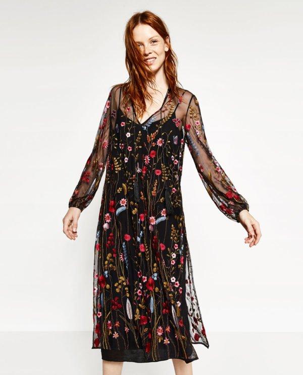 Zara mujer vestidos temporada