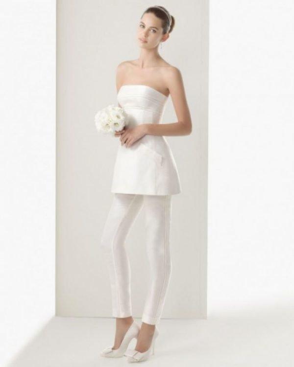 Vestidos de novia para boda civil pantalones