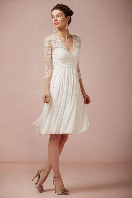 Vestidos de novia para boda civil tres cuartos