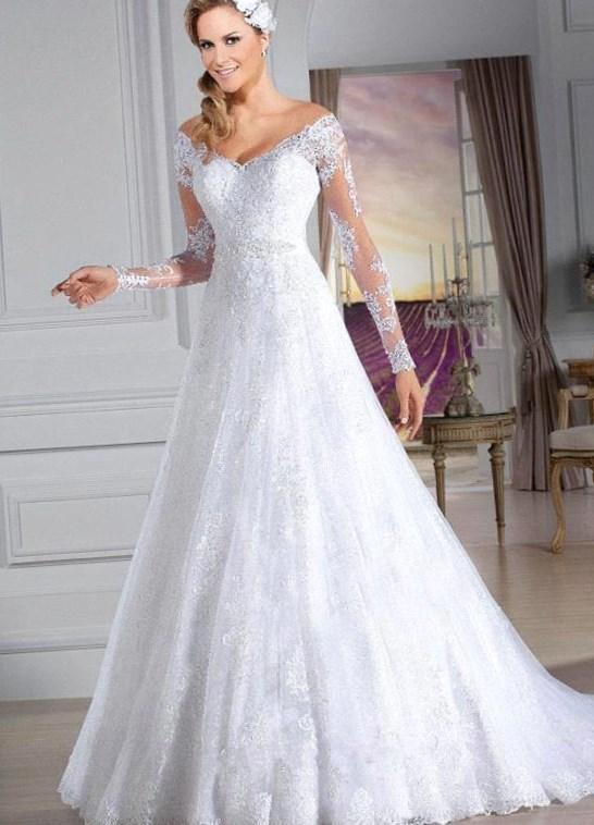 3d79799dcdb86 Vestidos de novia de manga larga Primavera Verano 2019 - Tendenzias.com