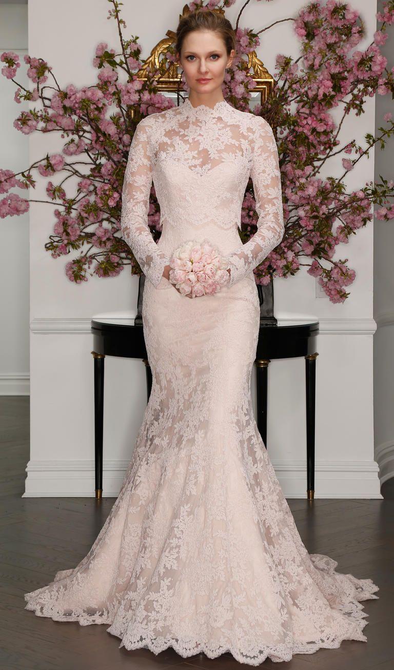 Vestidos para novia de manga larga