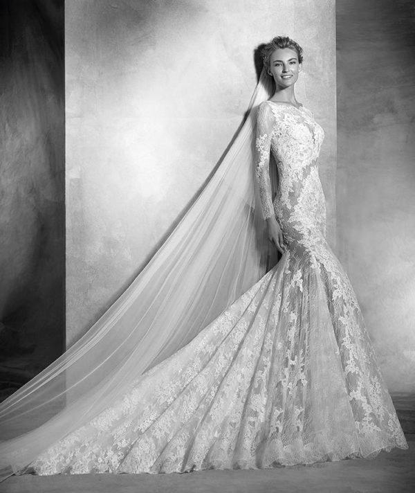 Vestidos de novia de manga larga Primavera Verano 2018 - Tendenzias.com