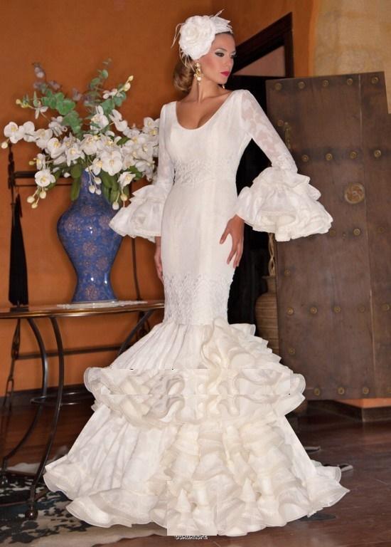 961d7e8f5 Vestidos de novia flamencos Primavera Verano 2019 - Tendenzias.com