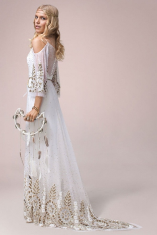 Vestidos de novia hippies Primavera Verano 2018 - Tendenzias.com