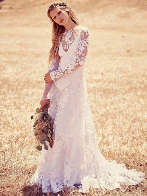 vestidos-de-novia-hippies-otono-invierno-2017-flores-mangas