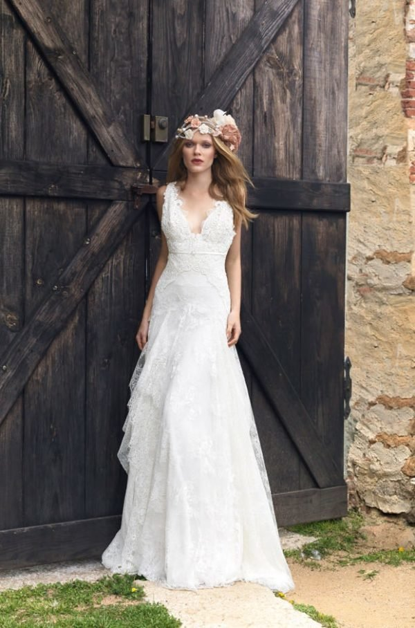 vestidos de novia hippies primavera verano 2019 - tendenzias