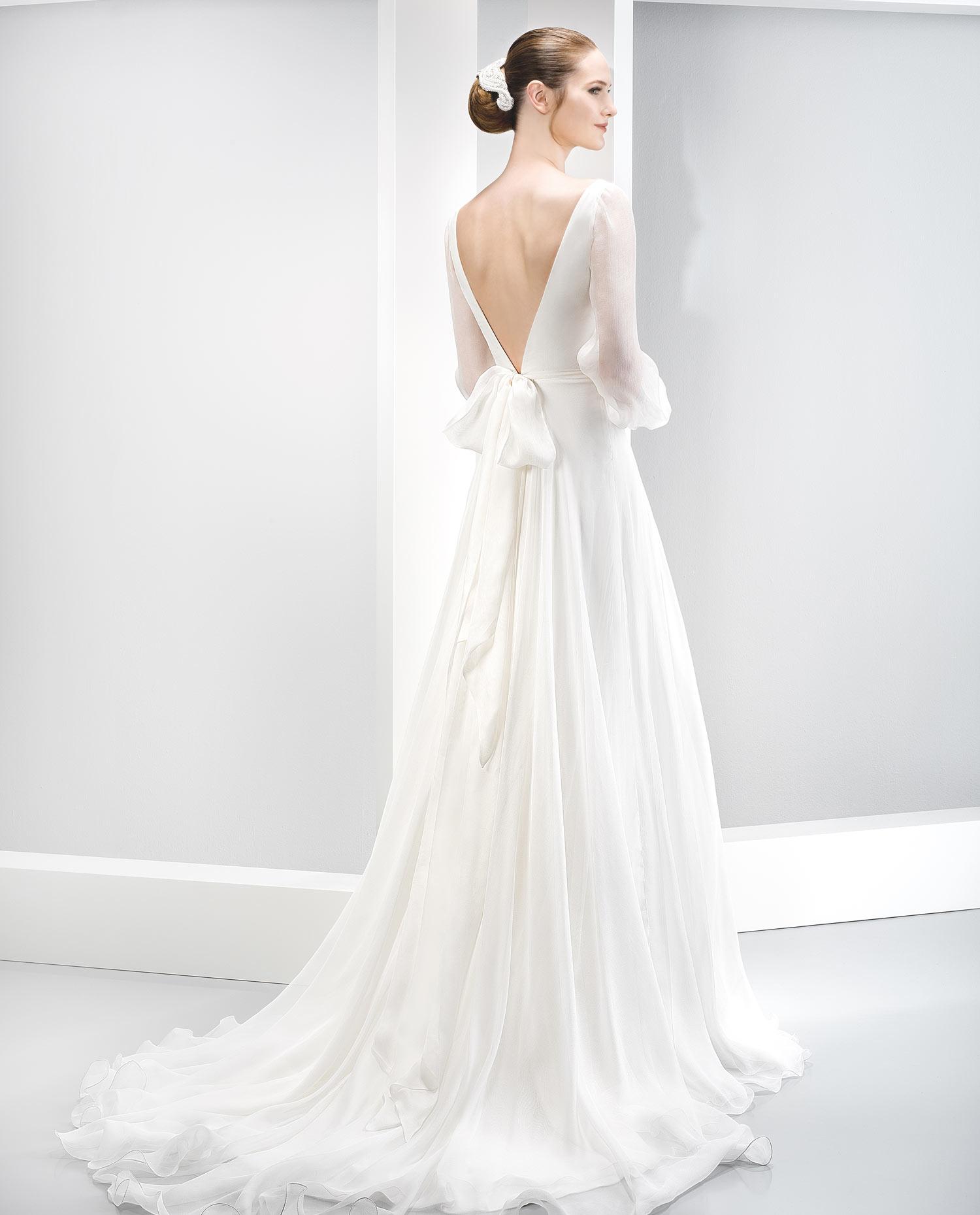 Vestidos de novia de manga larga Primavera Verano 2019 - Tendenzias.com f296b04b6f69