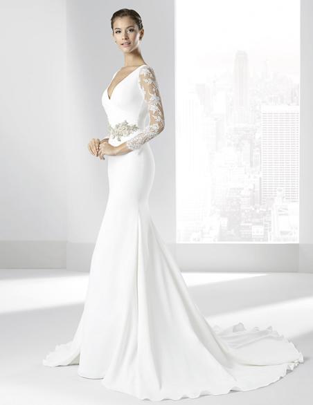 vestidos-de-novia-manga-larga-sencillo