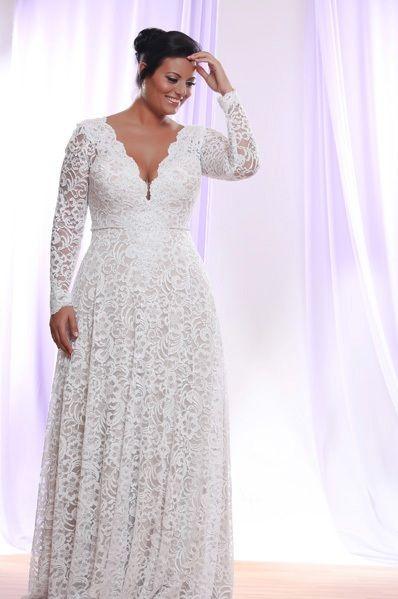 Vestidos de novia elegantes para gorditas