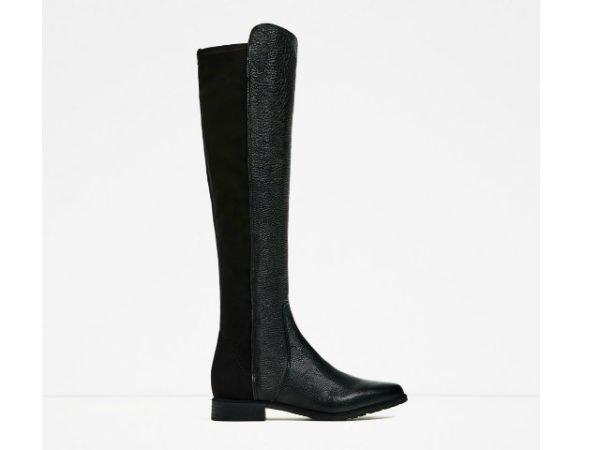zara-botas-otono-invierno-2017-negra-piel-y-elastico