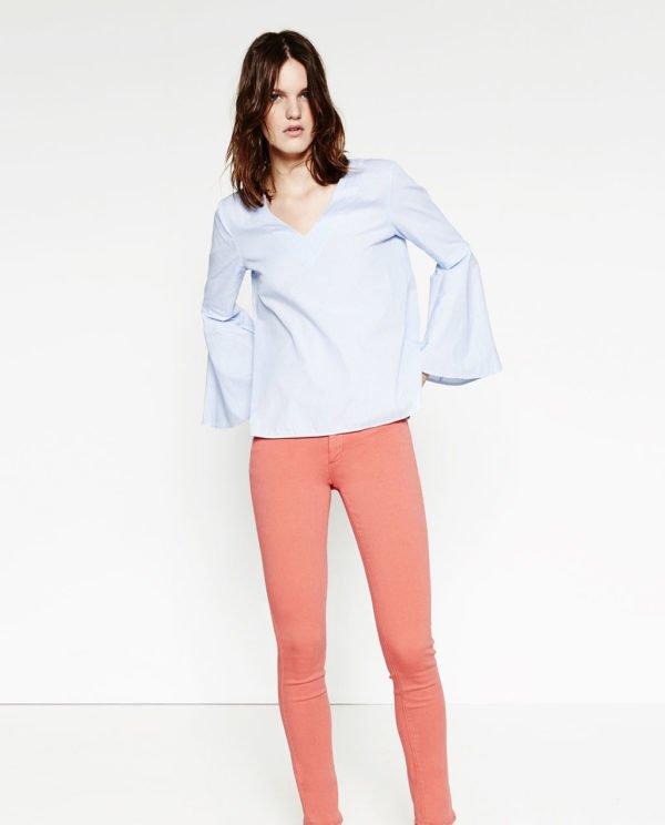 zara-pantalones-pitillo-sencillo-coral