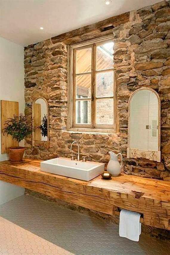 baños-rusticos-de-piedra-espejos