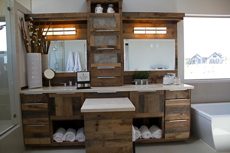 Fotos de ideas de decoración para baños rústicos modernos 2018 ...