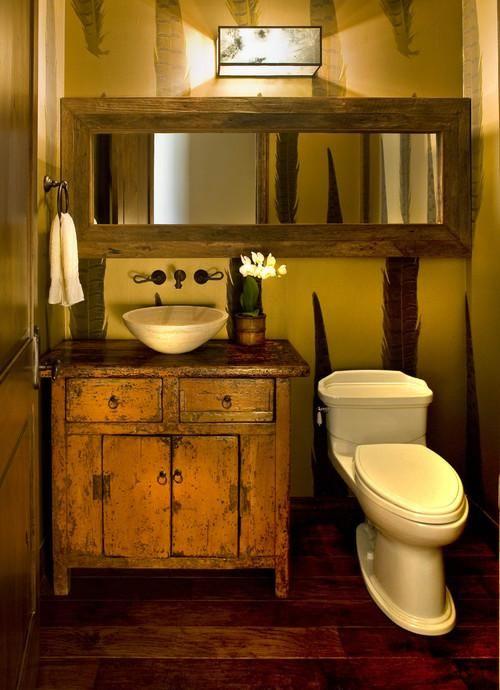 baños-rusticos-pequeños-gran-espejo