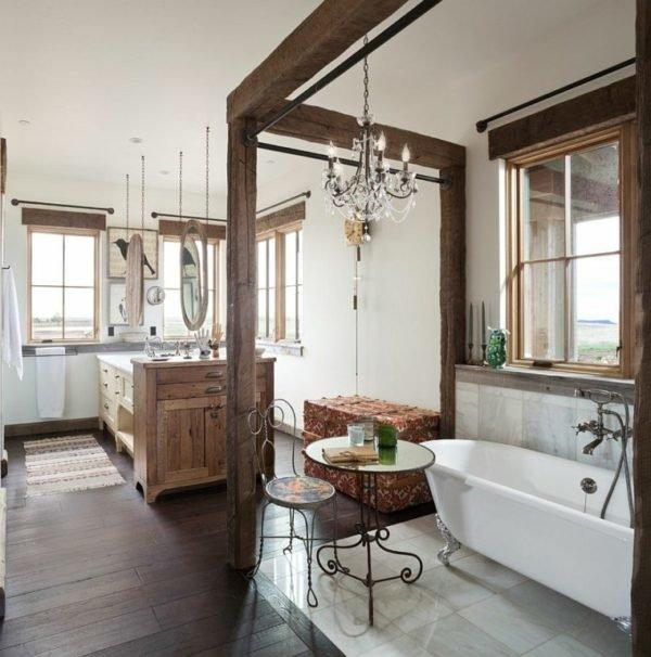 baños-rusticos-vintage-lampara