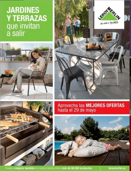 Muebles para terraza y jard n de leroy merlin 2018 for Catalogo de leroy merlin 2016