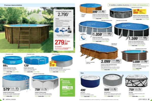 Muebles para terraza y jard n de leroy merlin 2018 for Leroy piscinas desmontables