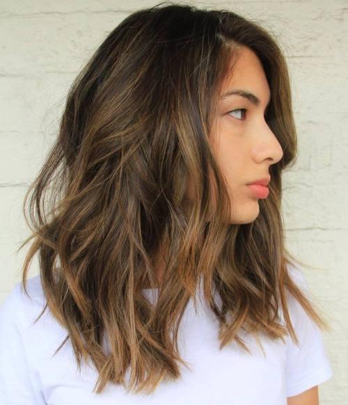 Corte de cabello long bob en capas