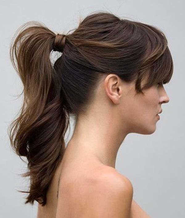 De moda peinados coletas altas Fotos de tendencias de color de pelo - Peinados con ondas Otoño Invierno 2021 - Tendenzias.com
