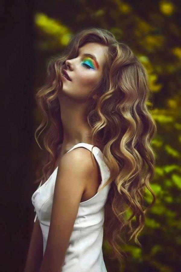 peinados con ondas melena - Peinados Pelo Largo Suelto