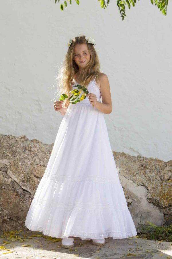Vestido blanco ibicenco 2018