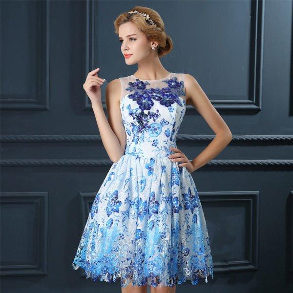 vestidos-de-fiesta-cortos-coctel-encaje-azul