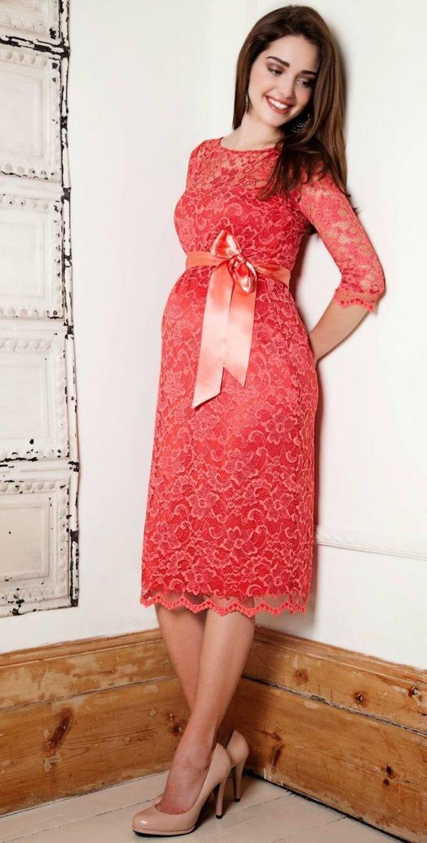 vestidos-de-fiesta-cortos-corto-día-encaje-embarazadas