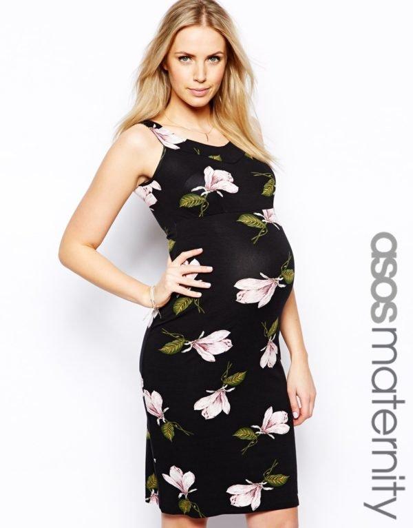 vestidos-de-fiesta-cortos-corto-día-flores-embarazadas