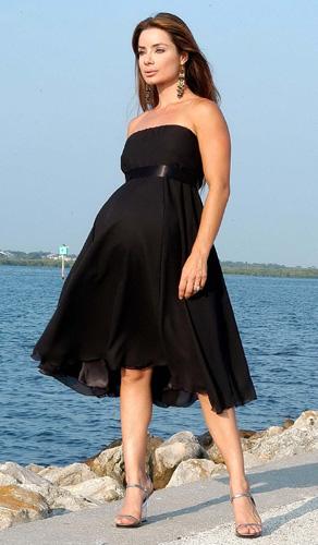 vestidos-de-fiesta-cortos-noche-embarazada-negro