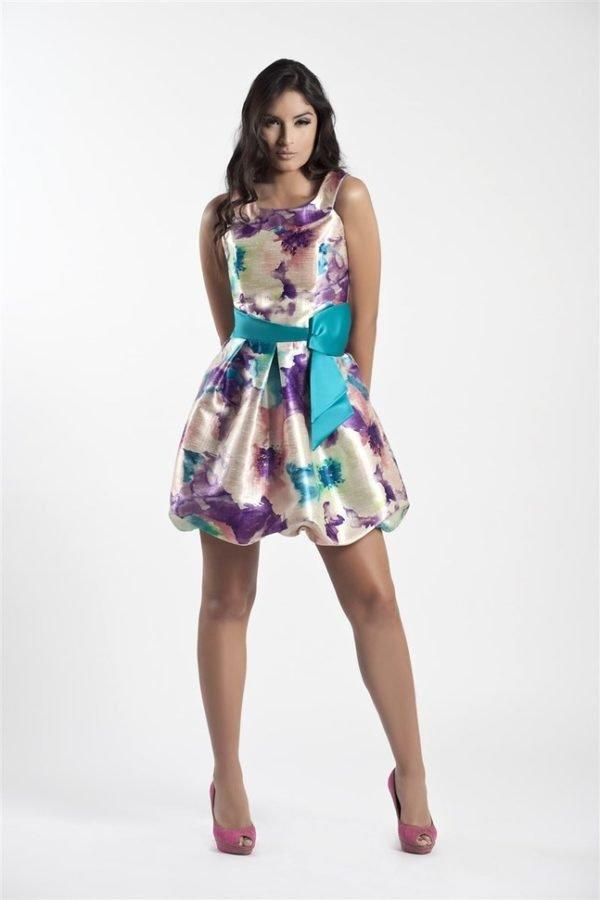 vestidos-de-fiesta-cortos-raso-estampado-globo