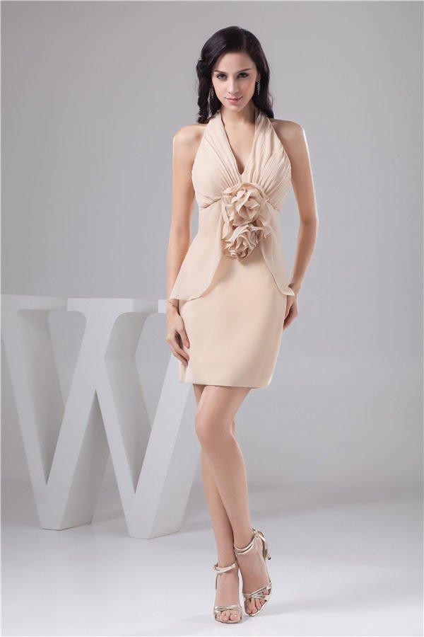 vestidos-de-fiesta-cortos-raso-vestido-rosa-entallado