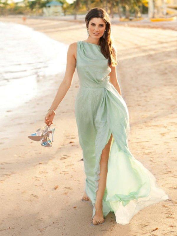 vestidos-de-invitada-de-boda-largo-verde-menta