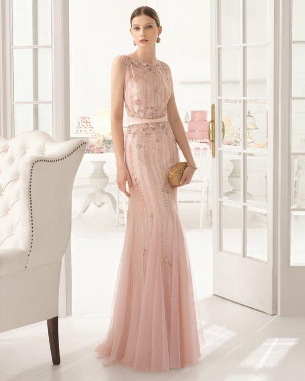 vestidos-de-invitada-de-boda-vintage-rosa-palo