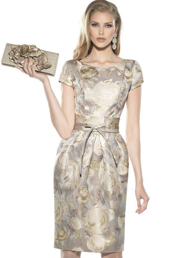 vestidos-de-madrina-de-boda-cortos-rosas-doradas
