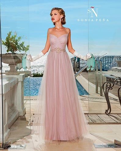 vestidos-de-madrina-de-boda-en-sonia-peña-largo-y-rosa