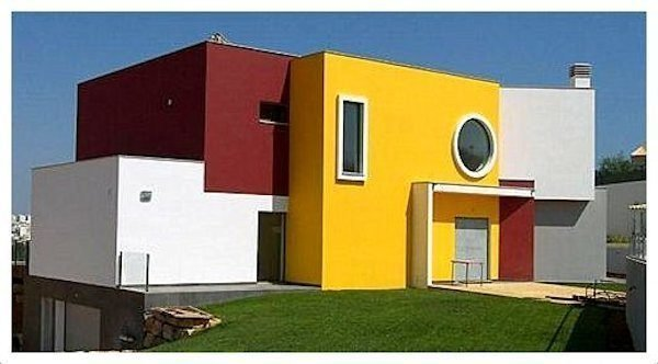 40 fotos e ideas de colores para fachadas de casas y for Colores para pintar paredes exteriores