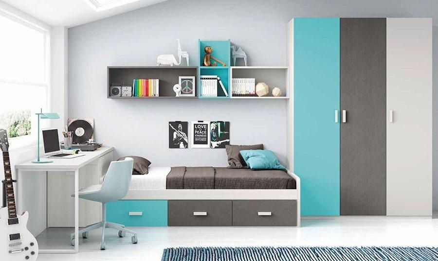 Los colores de cuartos para ni os y ni as de moda en 2016 - Habitaciones de ninos pequenas ...