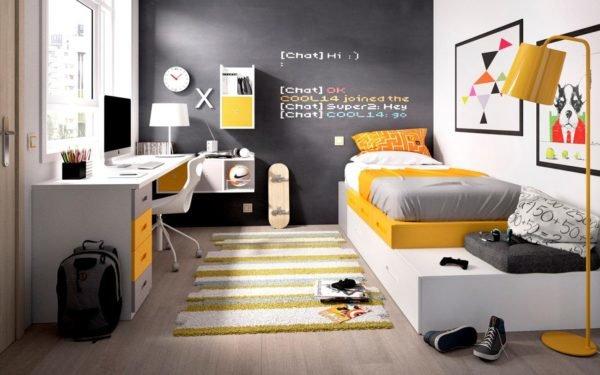 Colores para cuartos juveniles habitaciones 2018 for Vinilos juveniles chico