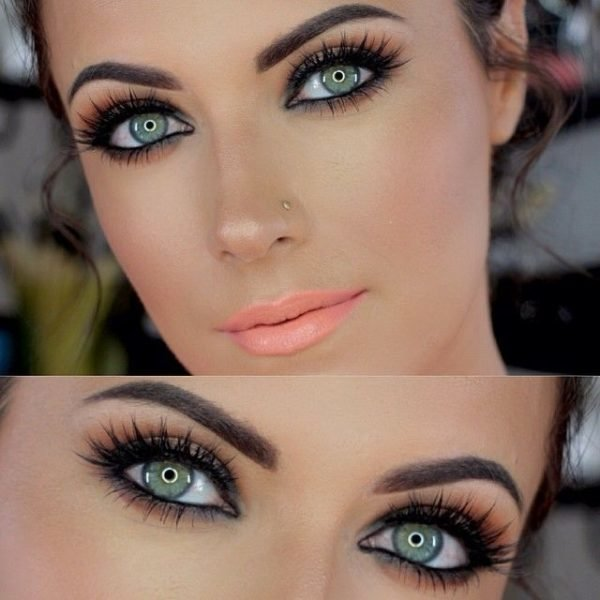 Color de cabello para morenas ojos verdes