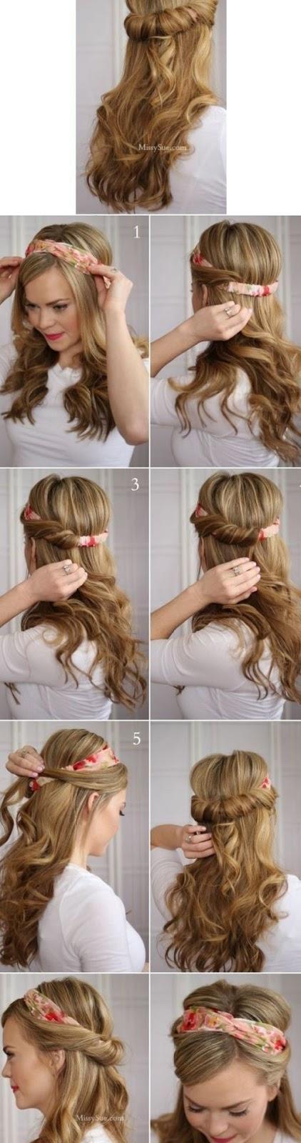 peinados-faciles-para-hacerse-una-misma-en-casa-otoño-invierno-media-cola-pañuelo
