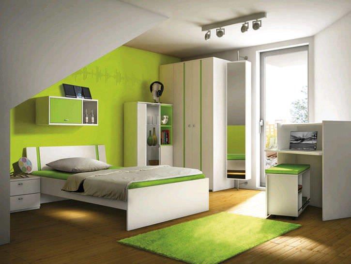 Colores para cuartos juveniles habitaciones 2019 for Decorar casa con muebles verdes