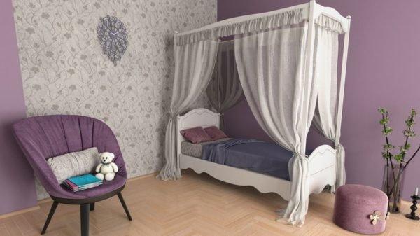 Colores habitaciones niños lila