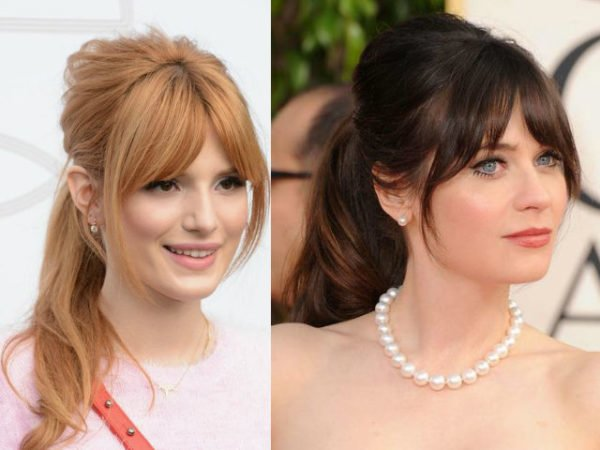 peinados-con-flequillo-abierto-coletas-celebrities